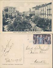 VALLO DELLA LUCANIA,CORSO VITTORIO E.,ANIM.VIAGGIATA1939 -F.P.CAMPANIA(SA)44054