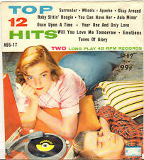 """DIVERS """"12 TOP HITS"""" POP ROCK AND ROLL DOUBLE 60'S EP PROMENADE A-55-17"""
