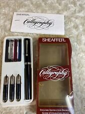 Vintage Sheaffer Calligraphy Set In Original Box Complete w/ Pen 3 Nibs Bin A8