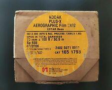 KODAK PLUS X AEROGRAPHIC FILM 2402 ESTAR BASE ISO A200(70mm x 100ft) Aerial Film