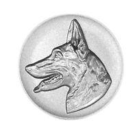 Metallemblem Schäferhund Ø50mm Abzeichen geprägt Reliefemblem | Pokale Meier