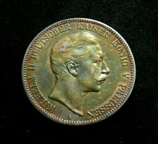 1907 A German States - Prussia 5 Mark Silver coin Wilhelm II