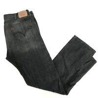 Levi's 505 Straight Leg Men's Size 38 x 34 Charcoal Gray Denim Jeans D-128