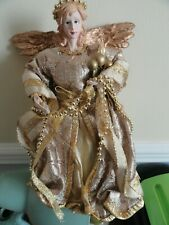 Vgc Vintage porcelain half doll Christmas Tree Topper Fairy / Angel
