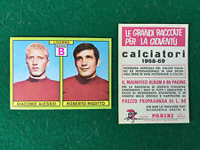 CALCIATORI 1968/69 68/1969 LIVORNO ALESSIO RIGOTTO Figurina Sticker Panini (NEW)