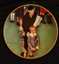 """Knowles Norman Rockwell Plate """"Men About Town"""" 1991 Coming Of Age Series"""