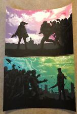 "Dan Mumford's 2013/2014 Zombie Print Bundle Each Is 16.5"" X 11.5"" AP Signed"
