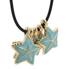 5pcs Bulk Sea Star AEnamel Gold Plated lloy Pendants Charms Jewelry Findings J
