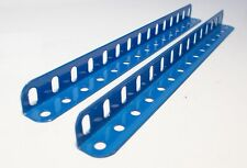 Meccano Angle Girder 15 Holes in French Blue x 2 (8b)