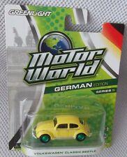VW CLASSIC BEETLE  GREENLIGHT Motor World GERMAN Ser. 5 GREEN MACHINE CHASE 1/45
