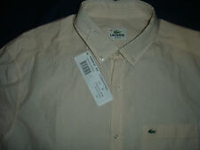 Lacoste Men's Slim Fit Striped Shirt - Stripe - Paprika-Size 42  BNWT