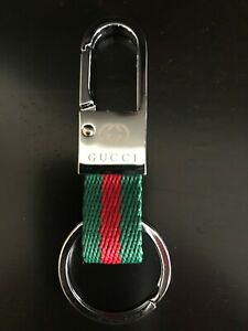 GUCCI KEYRING WITH SPRING LOCKED CLASP.