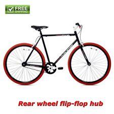 Kent Fixie Bike 700C Black Red Men's Single Speed Sport City Fitness Bicycle New