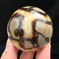 Natural Dragon Septarian Ball Quartz Crystal Specimen Reiki Healing 50mm 120g+