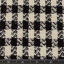 "Black & White Checks Matka Silk 100% Raw Silk Fabric, 44"" W, By Yard (WT-263)"