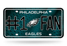 "Philadelphia Eagles #1 Fan Metal License Plate 6""x12"" Novelty Sign NFL"