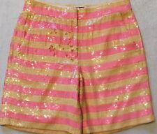 NWT JCREW Collection short in sequin stripe Sz2 F2924 Pink Orange SOLDOUT!!