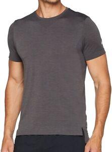 Asics Seamless Short Sleeve Mens Running Top Grey Lightweight Ventilated Run Tee