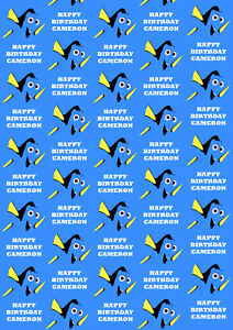Dory Personalised Gift Wrap - Disney's Finding Nemo Wrapping Paper