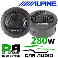 """Official Alpine SXE 1006tw 1""""3cm Car & Van Dome Tweeter Speaker 280 Watts"""