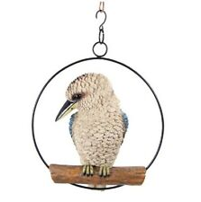 25cm Realistic Kookaburra in Hanging Ring - Australian Native Garden Ornament