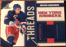 2010-11 Pinnacle Threads Artem Anisimov AA New York Rangers #'d 165/499