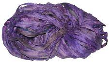 10 yards Recycled Sari Silk Ribbon Yarn, Purple for tassels,embellishment