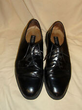 Kenneth Cole New York 8891 Leather Men's Oxfords Black Made in Italy Size 12 GUC