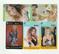 (5) Used Rare Phone Cards Shakira