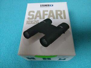 Steiner Safari 10x26mm Roof Prism Binoculars, NBR Rubber Armoring, Green, 2040