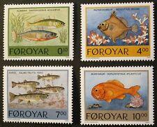 Fishes stamps, 1994, Trout, Stickleback, Faroe Islands, SG ref: 249-252, MNH