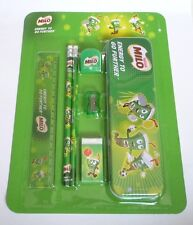 MILO New STATIONARY SET with PENCIL CASE RUBBER ERASER Milo Nestle MALAYSIA 2014