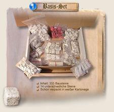 Krippenbausteine, Ruinen, 333 Modellbausteine, Basis-Set, Krippenbau