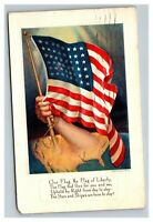 Vintage Early 1900's Post WW1 Patriotic Flag Postcard POSTED