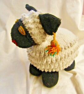 Black Sheep Hand Knitted Soft Stuffed Toy