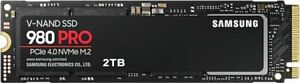 Samsung 2.0TB 980 Pro SSD NVMe PCIe4.0x4 M.2 2280 Solid State Drive MZ-V8P2T0BW