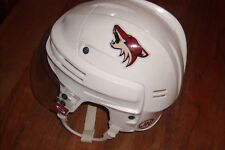 PHOENIX COYOTES Eric Belanger game-worn Bauer road white helmet from 2010-2011