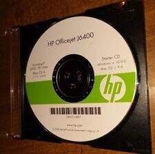 HP Officejet J6400 Application Starter CD (Windows V.10.0.0, Mac OS V. 9.6) 2008