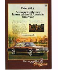 1984 Oldsmobile Delta 88 LS 4-door Sedan Vtg Print Ad