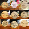 120pcs Handmade Thank You Package Label Sealing Tag Party Box Cards Paper Kraft
