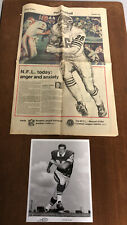 1974 WFL World Football League Lot Team Issued Photo & Chicago Fire Newspaper