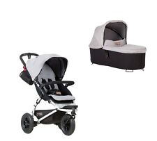 Mountain Buggy Swift + Carrycot plus Babywanne - silber NEU + SOFORTLIEFERUNG !