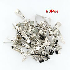 Lot of 50pcs Silver Tone Snap Hair Clips 50mm Craft Bow-Nickel Plated