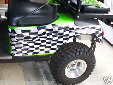 Large Checkered Flag Golf Cart Side Graphics Decal Decals EZGO Club Car Yamaha