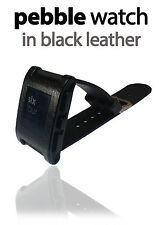 Textured Leather Skin For PEBBLE WATCH With 3M Screen Protector Decal Wrap