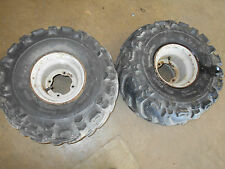 suzuki ltf160 lt160 rear back  rims wheels tires set  93 94 95 96 97  quadrunner