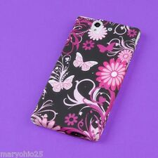 S Colorful Butterflies Back Skin Hard Cover Protector Case Sony Xperia