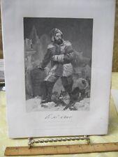 Vintage Print,ELISH KENT KANE,Gallery Eminent Americans,Alonzo Chappel,1860-62