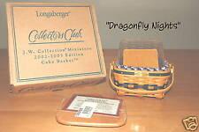 Longaberger CC J.W. Miniature~Mini~Cake Basket  Mint