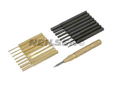 18PC PIN PUNCH SET WITH BRASS & CARBON STEEL PUNCHES + Auto Centre Punch